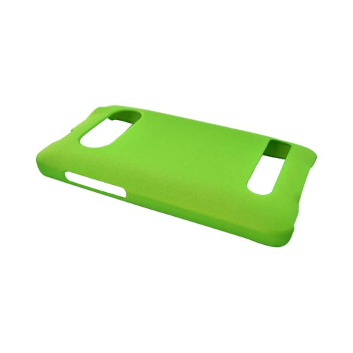 HTC Evo 4G Rubberized Hard Case - Neon Green