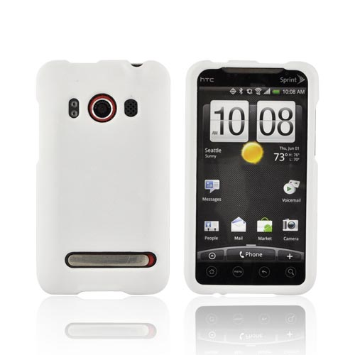 HTC Evo 4G Rubberized Hard Case - Solid White