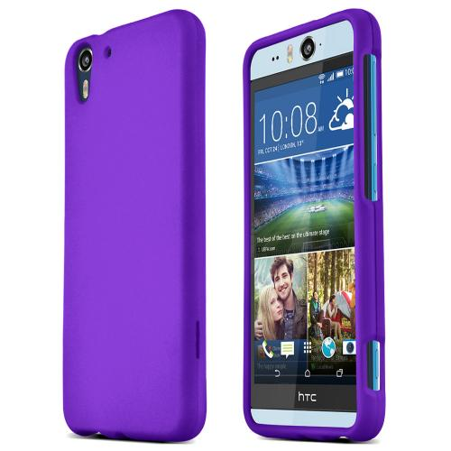 HTC Desire Eye Protective Rubberized Hard Case - Anti-Slip Matte Rubber Material [Slim and Perfect Fitting HTC Desire Eye Case] [Purple]