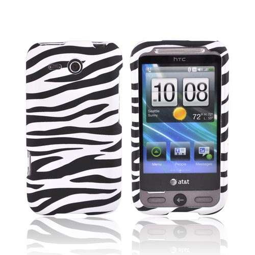 HTC FreeStyle Rubberized Hard Case - Black/White Zebra