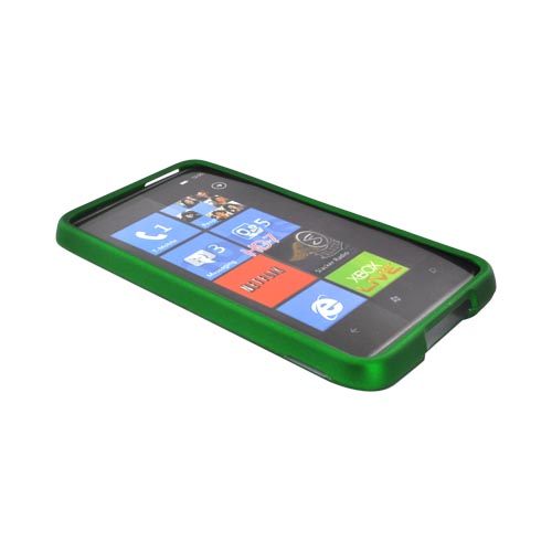 HTC HD7 / HTC HD7s Rubberized Hard Case - Green