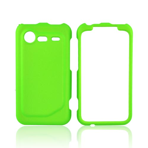 HTC Droid Incredible 2 Rubberized Hard Case - Neon Green