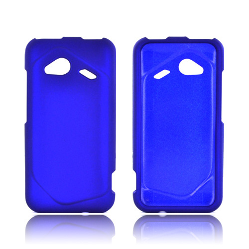 HTC Droid Incredible 4G LTE Rubberized Hard Case - Blue