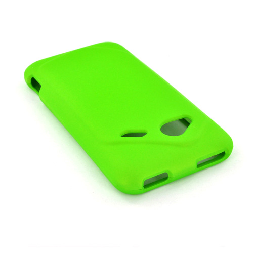 HTC Droid Incredible 4G LTE Rubberized Hard Case - Neon Green