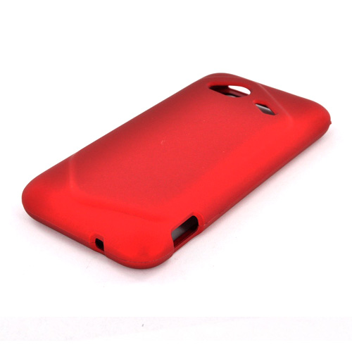 HTC Droid Incredible 4G LTE Rubberized Hard Case - Red