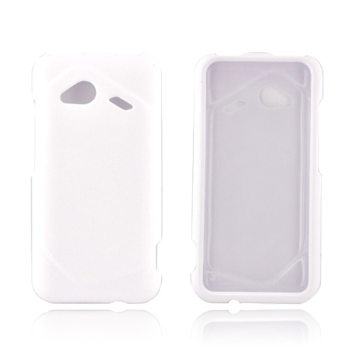 HTC Droid Incredible 4G LTE Rubberized Hard Case - White