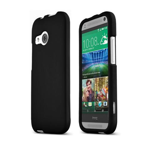 Black HTC One Remix Matte Rubberized Hard Case Cover; Perfect fit as Best Coolest Design Plastic Cases