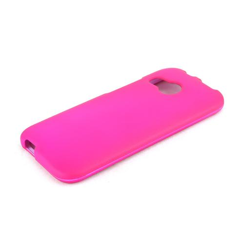 Hot Pink HTC One Remix Matte Rubberized Hard Case Cover; Perfect fit as Best Coolest Design Plastic Cases