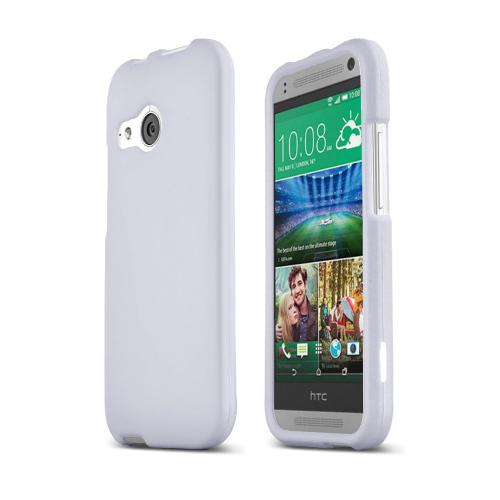 White HTC One Remix Matte Rubberized Hard Case Cover; Perfect fit as Best Coolest Design Plastic Cases