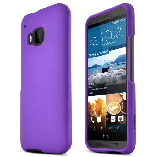 HTC One M9 Case, [Purple]  Slim & Flexible Anti-shock Crystal Silicone Protective TPU Gel Skin Case Cover