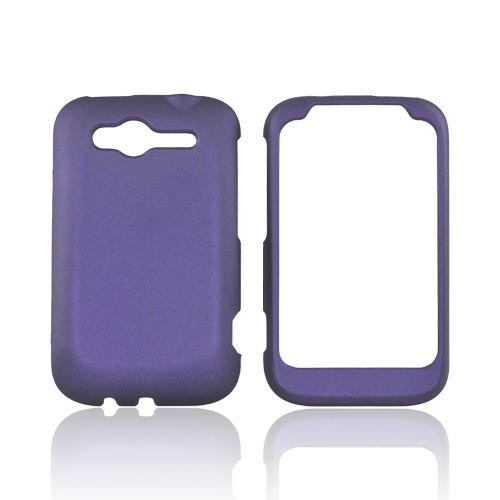 HTC Wildfire S (GSM) Rubberized Hard Case - Purple