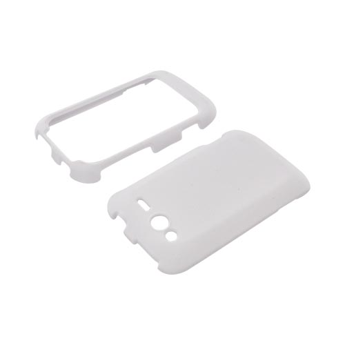 HTC Wildfire S (GSM) Rubberized Hard Case - Solid White