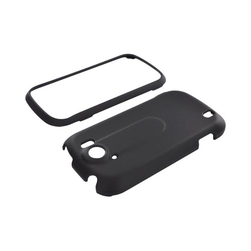 HTC Mytouch 4G Slide Rubberized Hard Case - Black