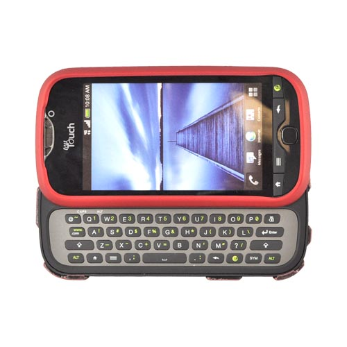 HTC Mytouch 4G Slide Rubberized Hard Case - Red