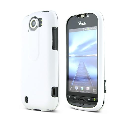 HTC Mytouch 4G Slide Rubberized Hard Case - Solid White