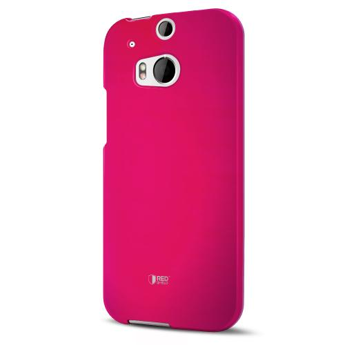 Rose Pink Rubberized Hard Case for HTC One (M8)