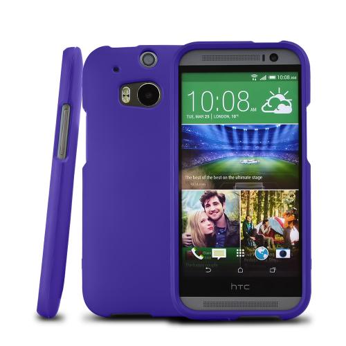 Purple Rubberized Hard Case for HTC One M8
