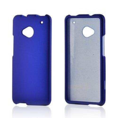 Blue Rubberized Hard Case for HTC One