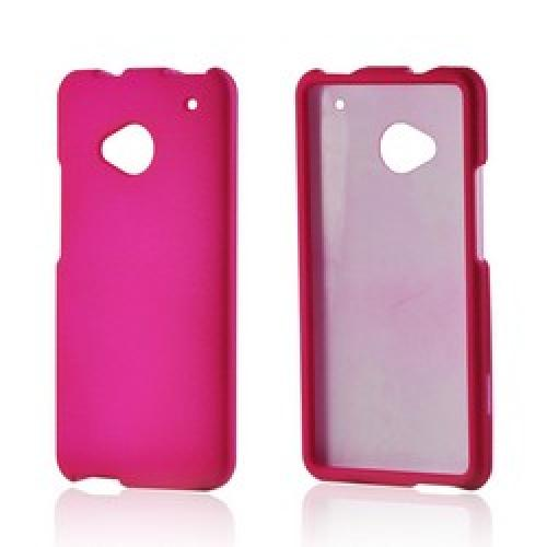 Hot Pink Rubberized Hard Case for HTC One