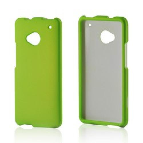 Neon Green Rubberized Hard Case for HTC One