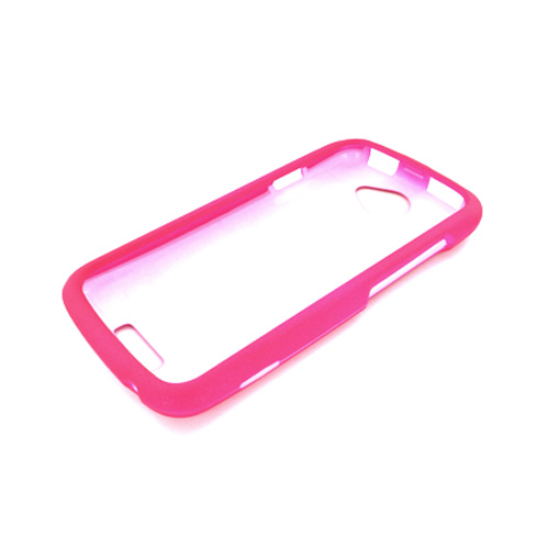 HTC One S Rubberized Hard Case - Hot Pink