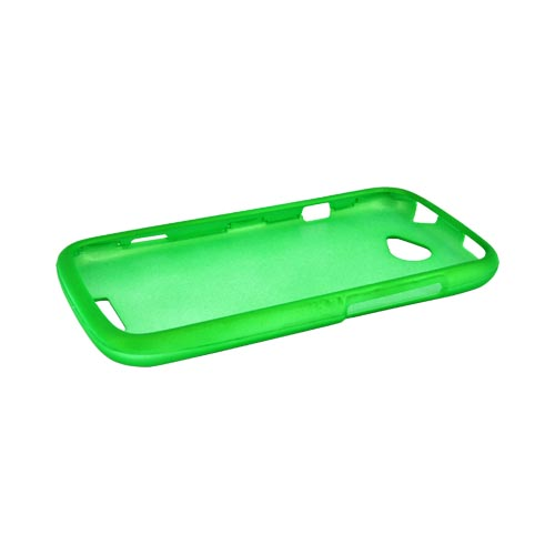 HTC One S Rubberized Hard Case - Neon Green