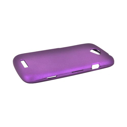 HTC One S Rubberized Hard Case - Purple