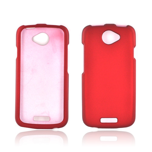 HTC One S Rubberized Hard Case - Red