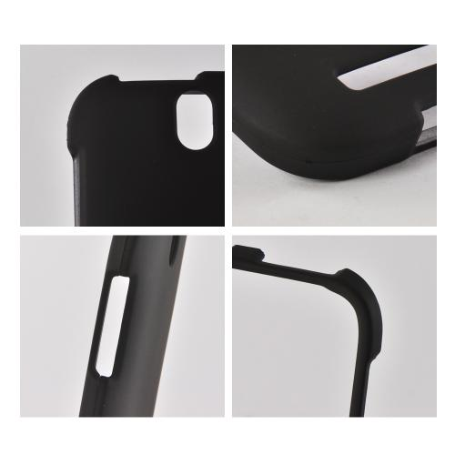 Black Rubberized Hard Case for HTC One SV