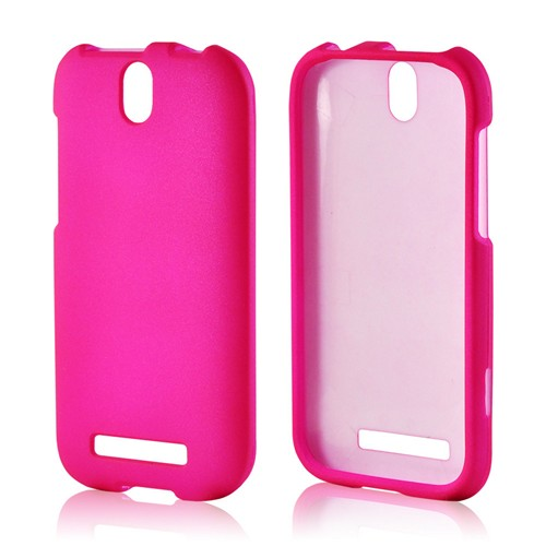 Hot Pink Rubberized Hard Case for HTC One SV