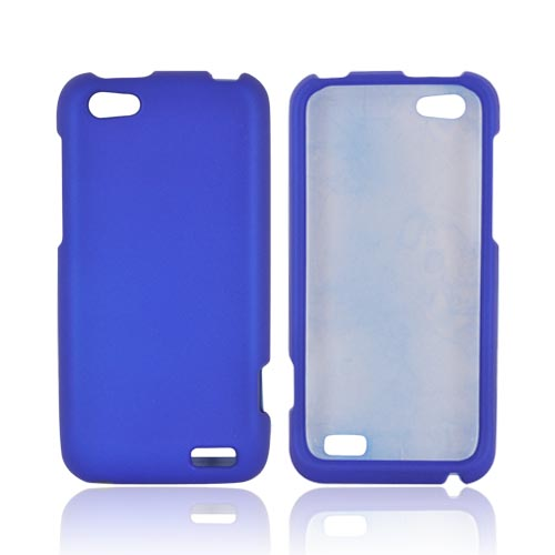 HTC One V Rubberized Hard Case - Blue