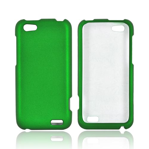 HTC One V Rubberized Hard Case - Green