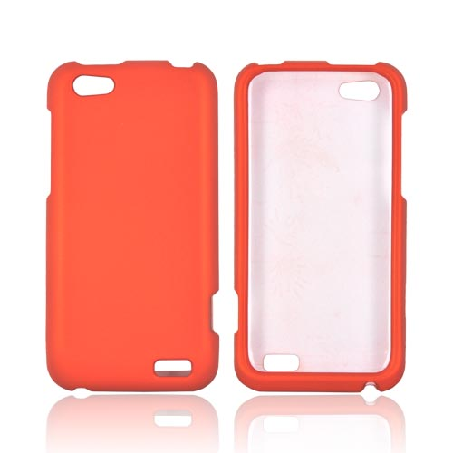 HTC One V Rubberized Hard Case - Orange