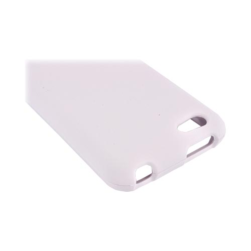 HTC One V Rubberized Hard Case - White