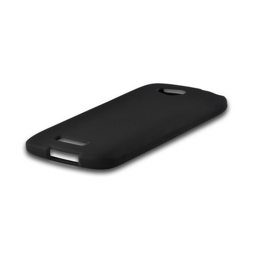 Black Rubberized Hard Case for HTC One VX