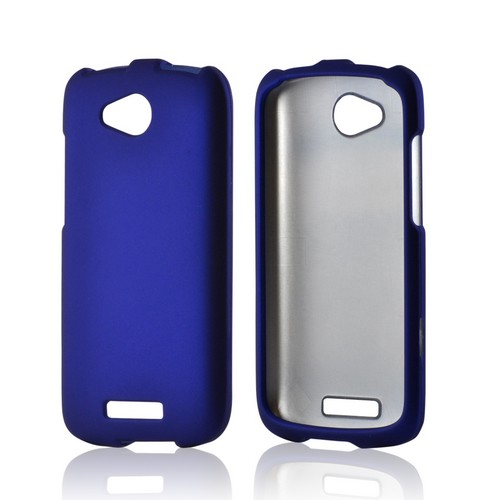 Blue Rubberized Hard Case for HTC One VX