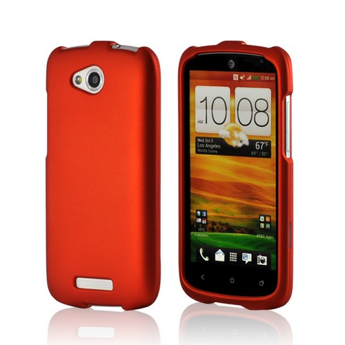 Orange Rubberized Hard Case for HTC One VX