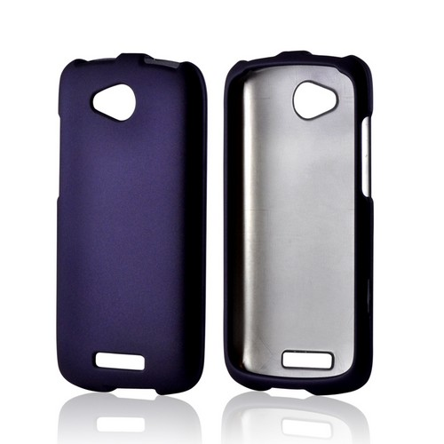 Purple Rubberized Hard Case for HTC One VX