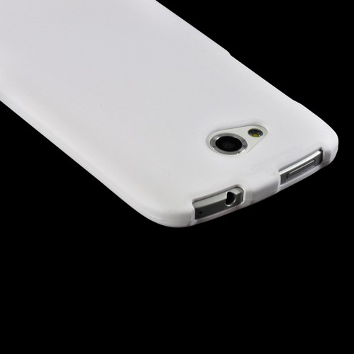 White Rubberized Hard Case for HTC One VX