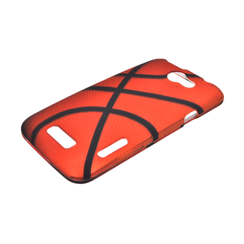 HTC One X Rubberized Hard Case - Orange/ Black Basketball