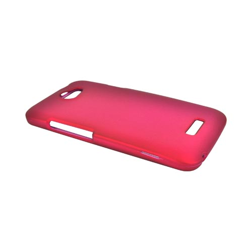 HTC One X Rubberized Hard Case - Rose Pink