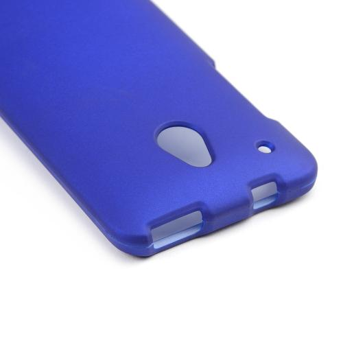 Blue Rubberized Hard Case for HTC One Mini