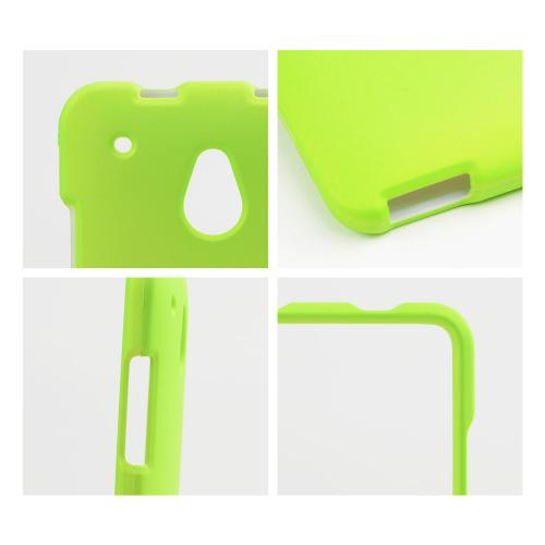 Neon Green Rubberized Hard Case for HTC One Mini