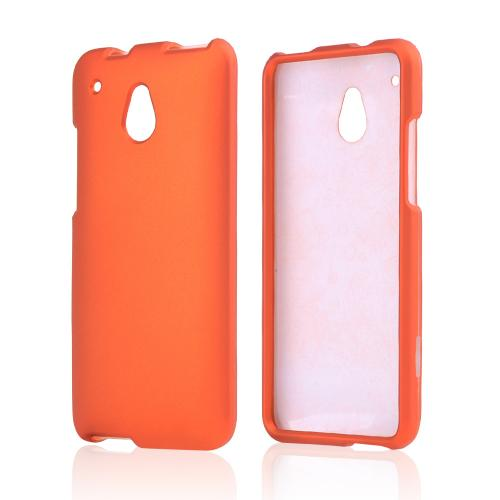 Orange Rubberized Hard Case for HTC One Mini