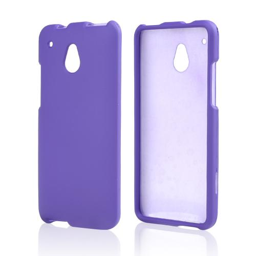 Purple Rubberized Hard Case for HTC One Mini