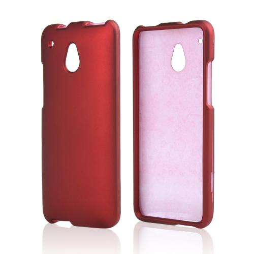 Red Rubberized Hard Case for HTC One Mini