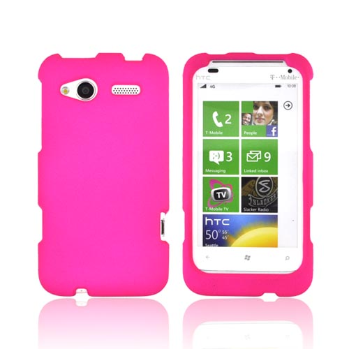 HTC Radar 4G Rubberized Hard Case - Hot Pink
