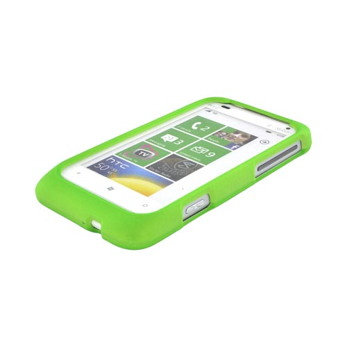 HTC Radar 4G Rubberized Hard Case - Neon Green