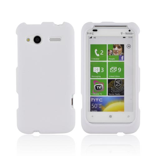 HTC Radar 4G Rubberized Hard Case - Solid White