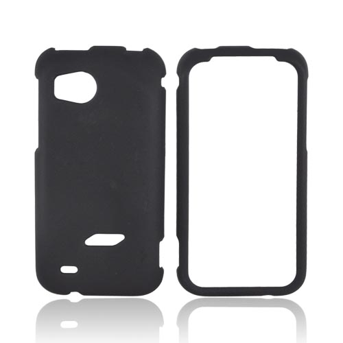 HTC Rezound Rubberized Hard Case - Black